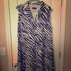 Jones New York Zebra Dress 20W